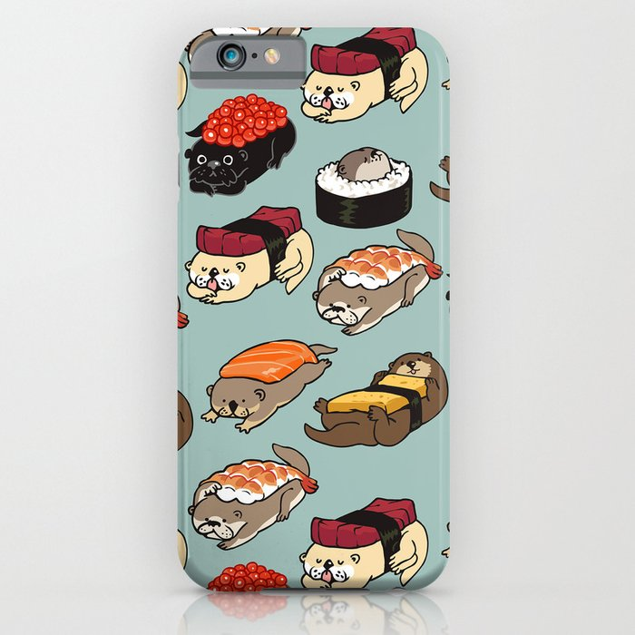 sushi otter iphone case