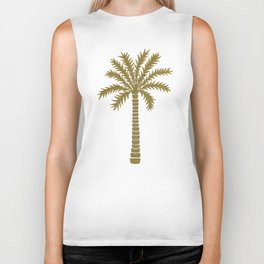 Gold Palm Tree Biker Tank