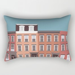 West Village NYC Travel Poster Rectangular Pillow