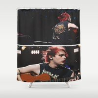 5 seconds of summer Shower Curtains featuring 5 Seconds of Summer - Michael by Fan_Girl_Designs