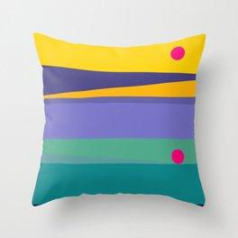 Twilight Stripes Throw Pillow
