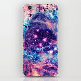 Trendy Pastel Pink Blue Nebula Girly Stars Galaxy iPhone Skin