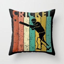 Cricket Bowler Bat Cricketer Gift Throw Pillow