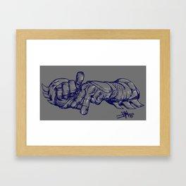 LA Bat Person Framed Art Print
