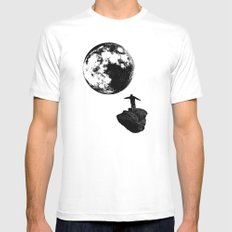 Boy and the Moon Mens Fitted Tee MEDIUM White
