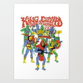 king gizzard and the lizard wizard Art Print