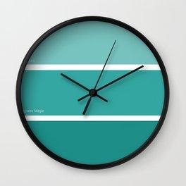 Teal Trip Wall Clock