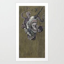 the narwhals last song Art Print