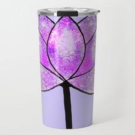 Purple lotus-mindfullness Travel Mug