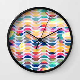 Happy waves Wall Clock