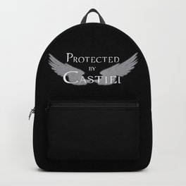 Protected by Castiel White Wings Backpack