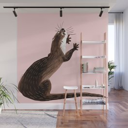 Asian small-clawed otter Wall Mural