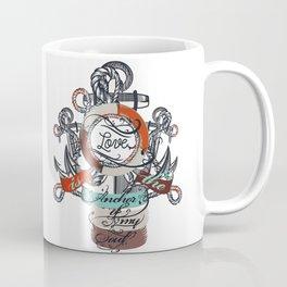 Beautiful marine design, vacation theme with anchor Coffee Mug