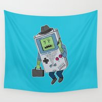 video game Wall Tapestries featuring Game Man by Josh Ln