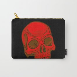 Skull - Red Carry-All Pouch