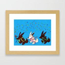 Chocolate Parade Framed Art Print