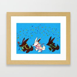 Chocolate Parade Framed Art Print