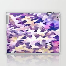 Foliage Abstract Camouflage In Pale Purple and Violet Pastels Laptop & iPad Skin