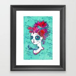 Day of The Dead Dreamer Framed Art Print