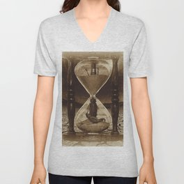 Sands of Time ... Memento Mori - Sepia Unisex V-Neck