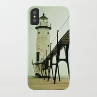 western iPhone & iPod Cases featuring Manistee Light by Olivia Joy StClaire