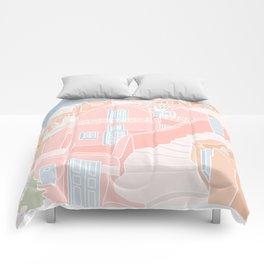 Santorini Greece Comforters