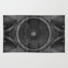 Black and white music speakers Rug