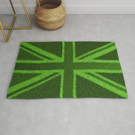 Grass Britain / 3D render of British flag grown from grass Rug