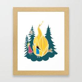 Midsummer bonfire (Kokko) Framed Art Print