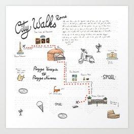 Piazza Venezia to Piazza Navona - City Walk Art Print