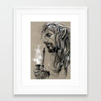 smoking Framed Art Prints featuring smoking by evankart