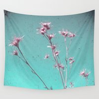 alone Wall Tapestries featuring Alone by Cassia Beck