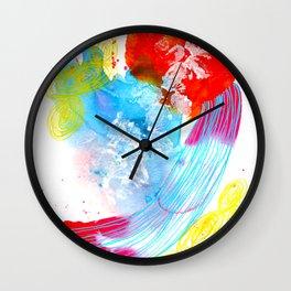 Feeling Alright Abstract Watercolor Wall Clock