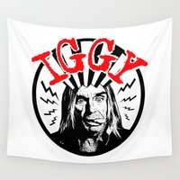 iggy Wall Tapestries featuring There is Only ONE Iggy  |  Iggy Pop by Silvio Ledbetter