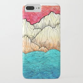 As the sea hits the mountains iPhone Case