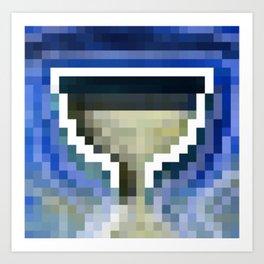 Poseidon's Pixel Cup Art Print