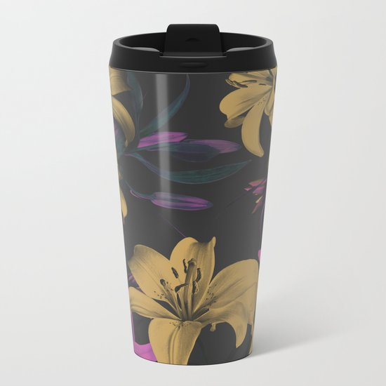 Flower Power Metal Travel Mug