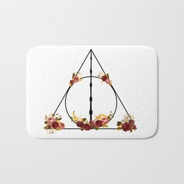 Deathly Hallows in Red and Gold Bath Mat