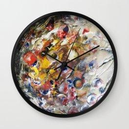 Cosmic Orbit - Mixed Media Beeswax Encaustic Abstract Modern Fine Art, 2015 Wall Clock