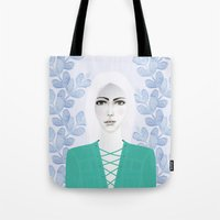 army Tote Bags featuring Army Girl by EISENHART