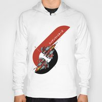foo fighters Hoodies featuring Raiden Fighters by Slippytee Clothing