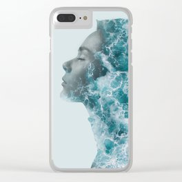 Ocean Lady Clear iPhone Case