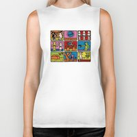 keith haring Biker Tanks featuring Keith Haring & star W.2 by le.duc