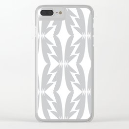 Shapes of Gray Clear iPhone Case