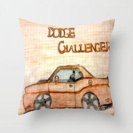 Dodge Challenger Throw Pillow