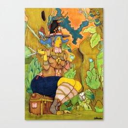 Icadinque The Gardener Canvas Print