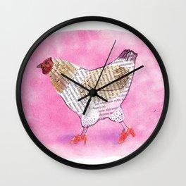 Hen on heels Wall Clock