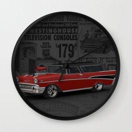 1957 #Chevy #Nomad Hot Rod Wall Clock