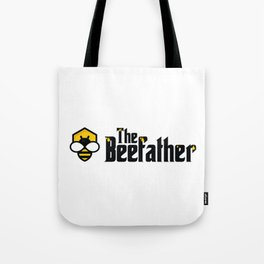 The Beefather - Bee Honey Beekeeper Honeycombs Tote Bag