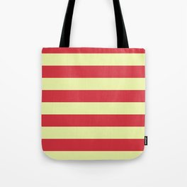 red and cream stripes Tote Bag